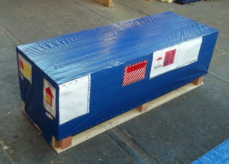 ABB rack component packing wrapped