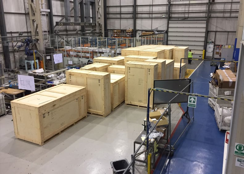 Automotive Production Line Packing complete