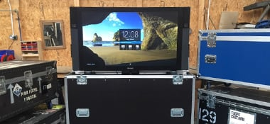 Interactive Touchscreen Flight Cases